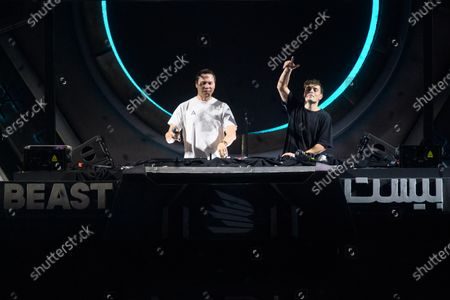 Tiesto and Martin Garrix perform during MDL Beast, a three day festival in Riyadh, Saudi Arabia, bringing together the best in music, performing arts and culture.