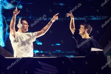 Stock Photo of Tiesto and Martin Garrix perform during MDL Beast, a three day festival in Riyadh, Saudi Arabia, bringing together the best in music, performing arts and culture.