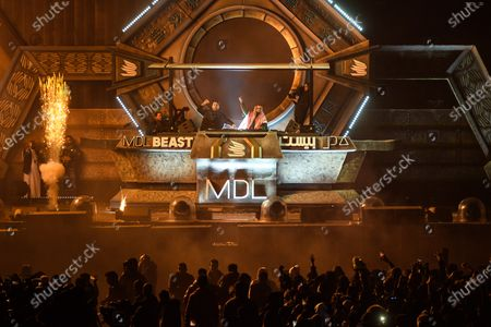 Sebastian Ingrosso and Salvatore Ganacci play a back to back set as they close the final day of MDL Beast, a three day festival in Riyadh, Saudi Arabia, bringing together the best in music, performing arts and culture.