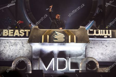 Sebastian Ingrosso performing at MDL Beast, a three day festival in Riyadh, Saudi Arabia, bringing together the best in music, performing arts and culture.