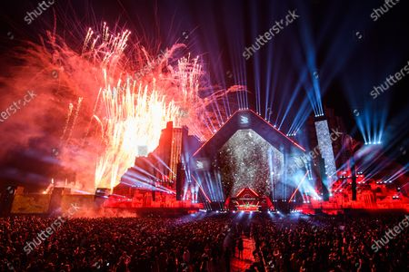 Stock Picture of Sebastian Ingrosso and Salvatore Ganacci play a back to back set as they close the final day of MDL Beast, a three day festival in Riyadh, Saudi Arabia, bringing together the best in music, performing arts and culture.