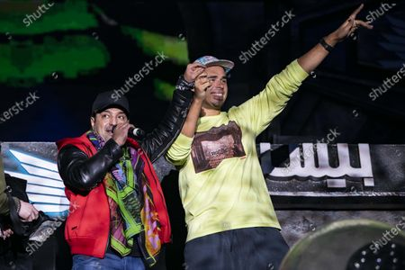 Rashed Al-Majed and DJ Afrojack perform during MDL Beast, a three day festival in Riyadh, Saudi Arabia, bringing together the best in music, performing arts and culture.