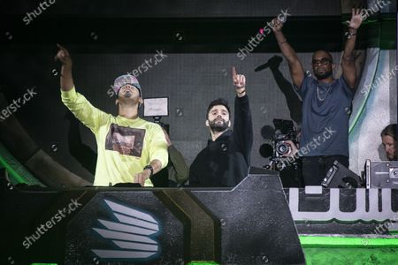 DJ Afrojack and R3hab perform during MDL Beast, a three day festival in Riyadh, Saudi Arabia, bringing together the best in music, performing arts and culture.