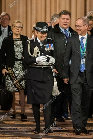 Commissioner of the Metropolitan Police Service Cressida Dick walks through the central lobby at the State Opening of Parliament