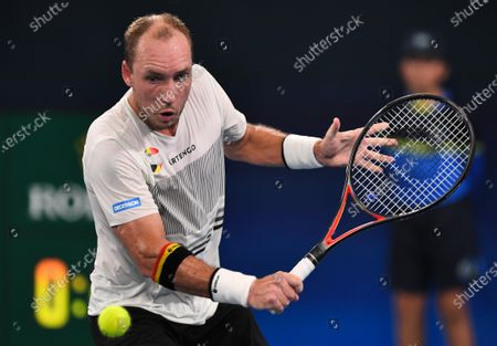 Stock Picture of Steve Darcis of Team Belgium in action during his men's singles match