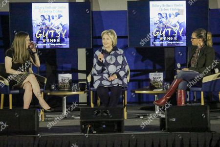 Stock Picture of Chelsea Clinton, Hillary Clinton and Vanessa L. Williams