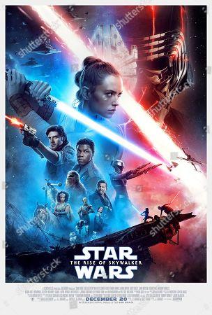 Star Wars: The Rise of Skywalker (2019) Poster Art. Oscar Isaac as Poe Dameron, John Boyega as Finn, Daisy Ridley as Rey, Adam Driver as Kylo Ren, Naomi Ackie as Jannah, Joonas Suotamo as Chewbacca, BB-8 (Brian Herring/Dave Chapman), R2-D2 (Hassan Taj/Lee Towersey),  Anthony Daniels as C-3PO, D-O (Robin Guiver/Lynn Robertson Bruce/J.J. Abrams), Billy Dee Williams as Lando Calrissian, Kelly Marie Tran as Rose Tico and Keri Russell as Zorii Bliss