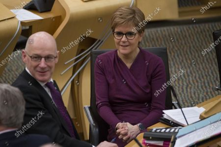 Referendums (Scotland) Bill - Nicola Sturgeon, First Minister of Scotland and Leader of the Scottish National Party (SNP), and John Swinney, Deputy First Minister and Cabinet Secretary for Education and Skills