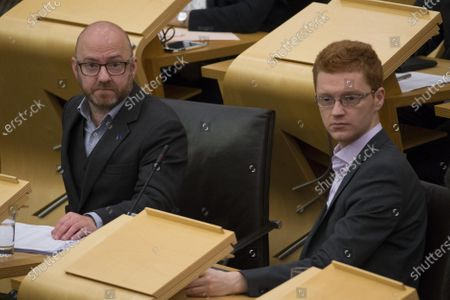 Stock Picture of Referendums (Scotland) Bill - Patrick Harvie, Co-leader of the Scottish Greens, and Ross Greer