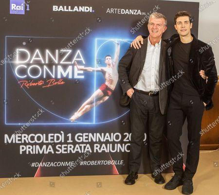 Deputy director Rai 1 Claudio Fasulo, Roberto Bolle