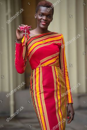 Stock Picture of Sheila Atim is awarded an MBE for services to Drama