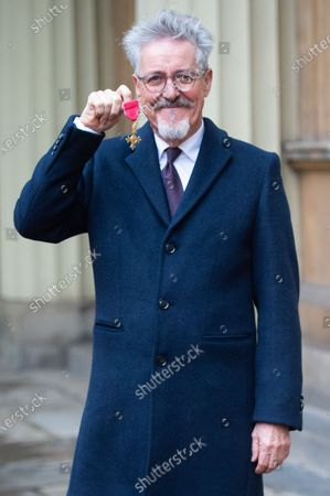 Griff Rhys Jones is awarded an OBE for services to the National Civic Society Movement, to charity and to Entertainment