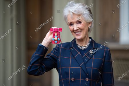 Stock Photo of Author Joanna Trollope is awarded a CBE for services to literature