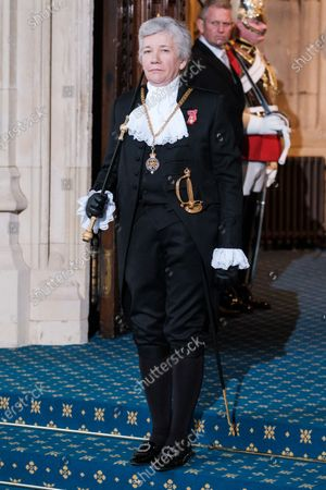 Sarah Clarke, The Black Rod at Westminster for the State Opening of Parliament