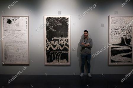 Editorial picture of Pierre Alechinsky exhibition, Malaga, Spain - 19 Dec 2019