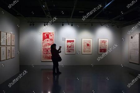 Editorial photo of Pierre Alechinsky exhibition, Malaga, Spain - 19 Dec 2019