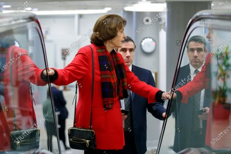 US Democratic Senator from California Dianne Feinstein walks to the Senate floor to vote on a series of 2020 federal spending appropriations bills in the US Capitol in Washington, DC, USA, 19 December 2019. A day earlier, the House passed two spending bills that will be voted on in the Senate and if passed will avert a government shutdown.