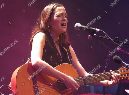 Mexican singer Natalia Lafourcade sings during Kevin Johansen's concert at Mexico City's Lunario