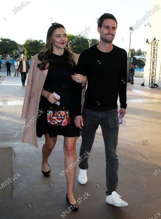 Stock Image of Miranda Kerr and Evan Spiegel