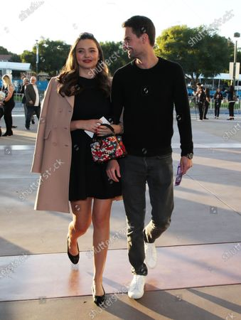 Stock Photo of Miranda Kerr and Evan Spiegel
