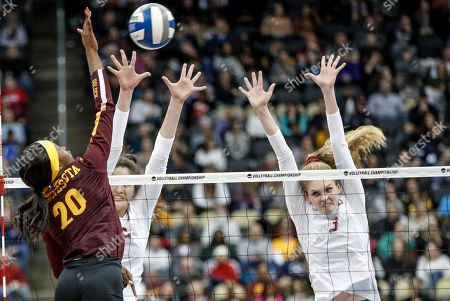 Editorial image of NCAA Minnesota Stanford Volleyball, Pittsburgh, USA - 19 Dec 2019