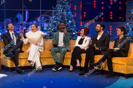 Stock Picture of David Tennant, Rita Ora, David Oyelowo, Rylan Clark, Sharon Osbourne, Jamie Cullum