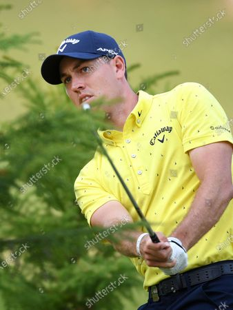 Stock Picture of Anthony Quayle of Australia plays a shot out of the rough on day two of the 2019 Australian PGA Championship at the RACV Royal Pines Resort on the Gold Coast, Australia, 20 December 2019.