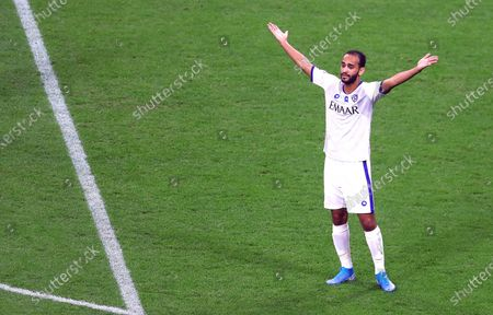 Stock Picture of Abdullah Otayf of Al Hilal gestures