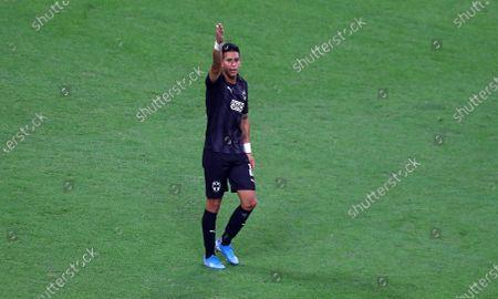 Maximiliano Meza of CF Monterrey celebrates scoring a goal to make the score 2-1