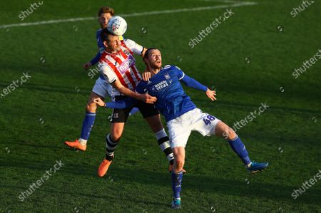 Editorial photo of Exeter City v Ipswich Town, Leasing.com Trophy, Football, Round Three, St James Park, UK - 04 Jan 2020