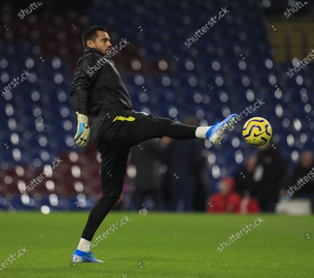 28th December 2019, Turf Moor, Burnley, England; Premier League, Burnley v Manchester United : Sergio Romero (22) of Manchester United warms up for the game