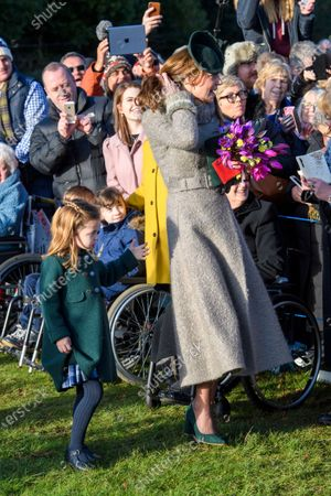 Princess Charlotte and Catherine Duchess of Cambridge at St Mary Magdalene Church