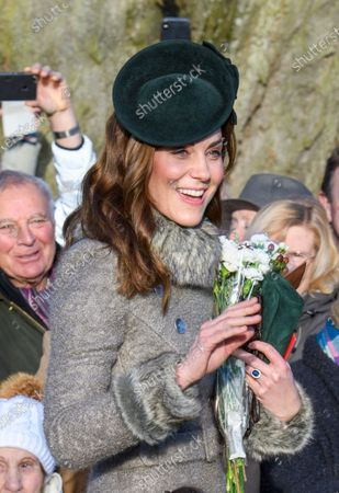 Catherine Duchess of Cambridge Princess Charlotte at St Mary Magdalene Church