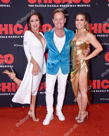 Alinta Chidzey, Jason Donovan and Natalie Bassingthwaighte