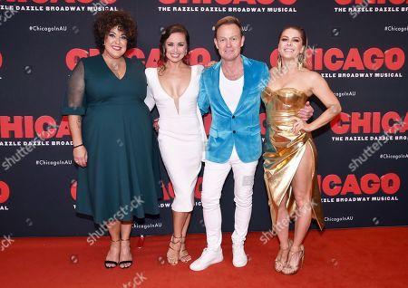 Casey Donovan, Alinta Chidzey, Jason Donovan and Natalie Bassingthwaighte