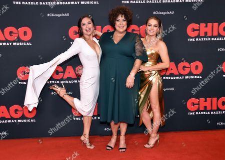 Alinta Chidzey, Casey Donovan and Natalie Bassingthwaighte