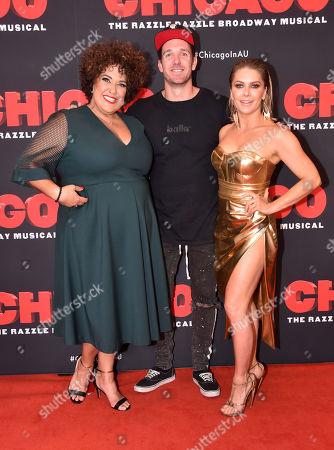 Casey Donovan, Dane Swan and Natalie Bassingthwaighte
