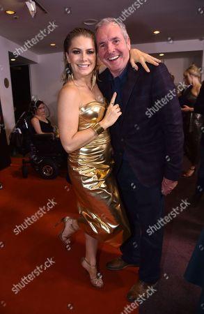 Natalie Bassingthwaighte with Alan Fletcher