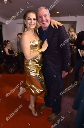 Stock Picture of Natalie Bassingthwaighte with Alan Fletcher