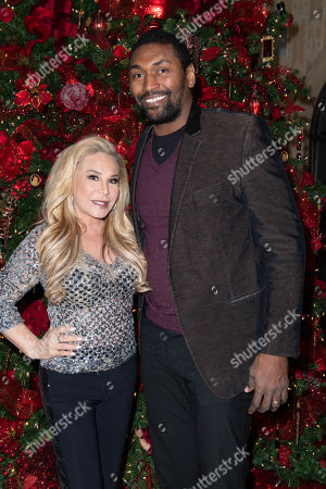 (L-R) Adrienne Maloof-Nassif and Ron Artest attend Adrienne Maloof's Festival Of Trees in support of the Los Angeles Fire Department