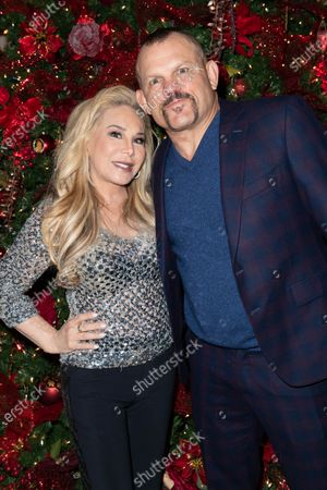 (L-R) Adrienne Maloof-Nassif and Chuck Liddell attend Adrienne Maloof's Festival Of Trees in support of the Los Angeles Fire Department