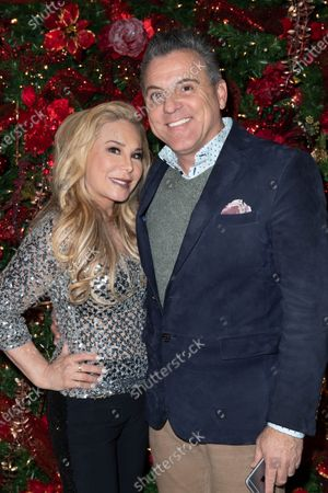 Stock Image of (L-R) Adrienne Maloof-Nassif and brother Phil Maloof attend Adrienne Maloof's Festival Of Trees in support of the Los Angeles Fire Department