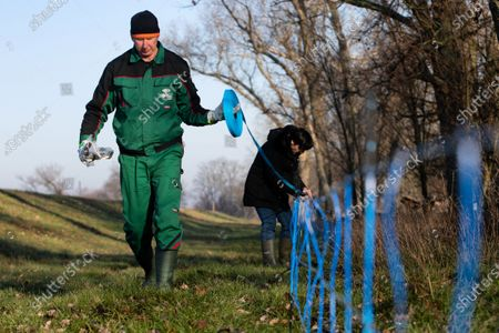 Editorial picture of Wildlife fence against African Swine Fever between Poland and Germany, Guben - 20 Dec 2019