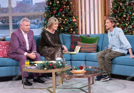 Eamonn Holmes and Ruth Langsford with Mackenzie Crook