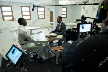 Michael B. Jordan as Bryan Stevenson and Rob Morgan as Herbert Richardson