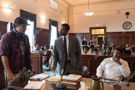Destin Cretton Director, Michael B. Jordan as Bryan Stevenson and Jamie Foxx as Walter McMillian