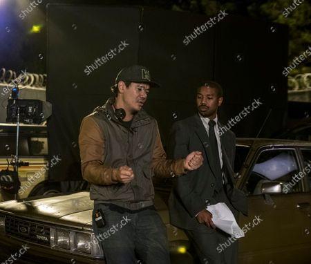 Destin Cretton Director and Michael B. Jordan as Bryan Stevenson