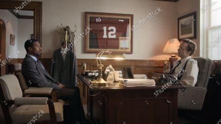 Michael B. Jordan as Bryan Stevenson and Rafe Spall as Tommy Champan