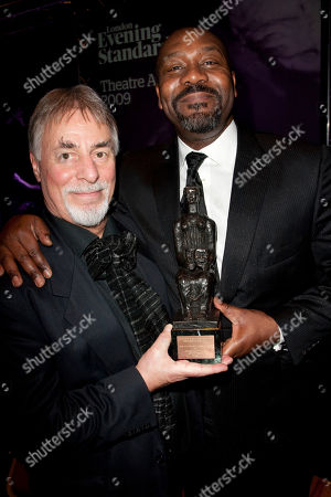Barrie Rutter and Lenny Henry, with The Milton Shulman Award for Outstanding Newcomer.