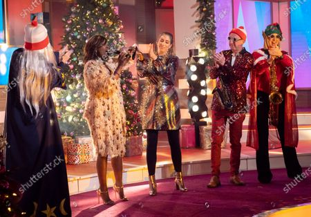 Kaye Adams, Kelle Bryan, Stacey Solomon, Andy Whyment and Carol McGiffin